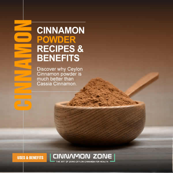 Cinnamon powder recipes and benefits